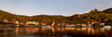 Town at the Riverside, River Mosel, Bernkastel-Kues, Bernkastel-Wittlich, Rhineland-Palatinate Photographic Print