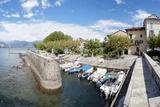 Small Boat Dockage Area, Isola Dei Pescatori, Lake Maggiore, Piedmont, Italy Photographic Print