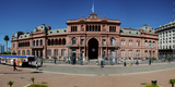 Facade of a Government Building, Casa Rosada, Plaza De Mayo, Buenos Aires, Argentina Photographic Print