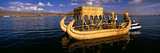 Traditional Reed Boat on Lake Titicaca, Puno, Peru, South America Photographic Print