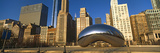 Cloud Gate Sculpture with Buildings in the Background, Millennium Park, Chicago, Cook County Photographic Print