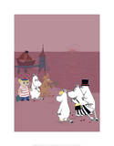 The Moomins Back on Dry Land After Their Treasure Hunt Posters by Tove Jansson