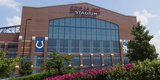 Facade of the Lucas Oil Stadium, Indianapolis, Marion County, Indiana, USA Photographic Print