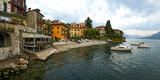 Buildings at the Waterfront, Varenna, Lake Como, Lombardy, Italy Photographic Print