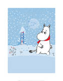 Moomintroll in the Snow Posters by Tove Jansson