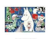 The Moomins Comic Cover 4 Prints by Tove Jansson