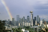 Rainbow Seattle Wa Photographic Print