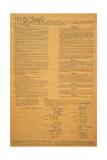 The Original United States Constitution Papier Photo