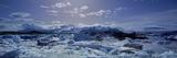 Icebergs Floating on Water, Vatnajokull, Fjallsarlon, Jokulsarlon Lagoon, Iceland Photographic Print