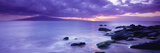 Rocks on Coast at Sunset, Maui, Hawaii, USA Photographic Print