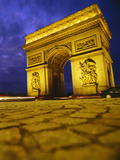 Low Angle View of a Triumphal Arch, Arc De Triomphe, Paris, France Photographic Print