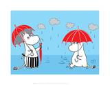 Moominmama and Snorkmaiden in the Rain Print by Tove Jansson