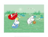 Tove Jansson - Moominmama and Snorkmaiden in the Water - Poster