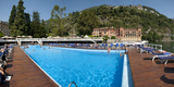 Swimming Pool into Lake at Villa D'Este Hotel, Lake Como, Cernobbio, Lombardy, Italy Photographic Print