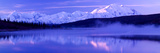 Reflection of Snow Covered Mountains on Water, Mt Mckinley, Wonder Lake, Denali National Park Photographic Print
