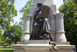 Justice Allegorical Sculpture on Thomas A. Hendricks Monument at the Indiana State Capitol Photographic Print