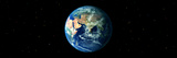 Earth in Space Showing Asia and Africa (Photo Illustration) Photographic Print