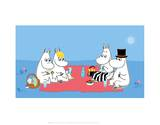 The Moomins Picnic Posters by Tove Jansson
