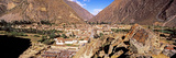 High Angle View of a Town in a Valley, Machu Picchu, Cusco Region, Peru, South America Photographic Print