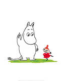 Moomintroll and Little My Poster by Tove Jansson