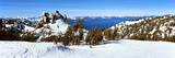 Trees on a Snow Covered Landscape, Heavenly Mountain Resort, Lake Tahoe Photographic Print