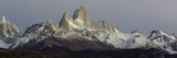 Snowcapped Mountain Range, Mt Fitzroy, Argentine Glaciers National Park, Santa Cruz Province Photographic Print