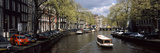 Boats in a Canal, Amsterdam, Netherlands Photographic Print