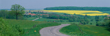 Country Road Near Dijon France Photographic Print
