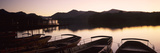 Rowboats at Derwent Water, Lake District National Park, Cumbria, England Photographic Print