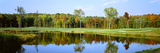 Reflection of Trees on Water in a Golf Course, Lee's Hill Golf Club, Fredericksburg, Virginia, USA Photographic Print
