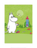 Moomintroll in Moomin Valley Prints by Tove Jansson