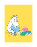 Moomintroll with his Head in a Book Art by Tove Jansson
