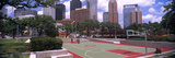 Basketball Court with Skyscrapers in the Background, Houston, Texas, USA 2012 Photographic Print