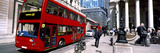 Double-Decker Bus in a Street, London, England Photographic Print