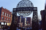 Gate at Old Town, Chicago, Cook County, Illinois, USA Photographic Print