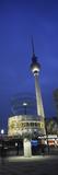 Weltzeituhr and Berlin Television Tower at Alexanderplatz, Berlin, Germany Photographic Print