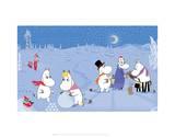 Tove Jansson - The Moomins in the Snow Umělecké plakáty
