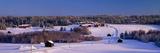 Snowy Rural Landscape Oestra Tavelsjoe Sweden Photographic Print