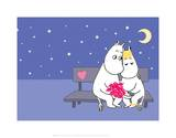 Moomintroll and Snorkmaiden Under the Stars Posters par Tove Jansson