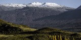 Mountain Range on a Landscape, Valle Chacabuco, Patagonia National Park, Aysen Region Photographic Print
