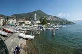 Waterfront at Cernobbio, Lake Como, Lombardy, Italy Photographic Print