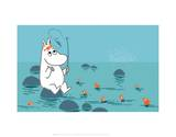 Moomintroll Fishing Prints by Tove Jansson