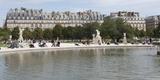Tourists in a Garden, Jardin De Tuileries, Musee Du Louvre, Rue De Rivoli, Paris, Ile-De-France Photographic Print