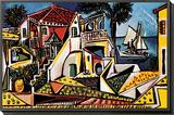 Mediterranean Landscape Framed Print Mount by Pablo Picasso