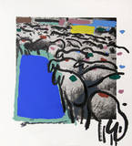 Sheep Portfolio 4 Limited edition van Menashe Kadishman