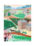 Tabacco Farm Print by Alexa Alexander