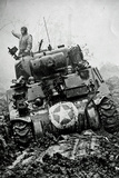 M3 Tank in Mud WWII Poster Photo