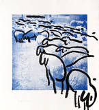 Sheep Portfolio 2 Limited edition van Menashe Kadishman
