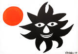 Red Sun Collectable Print by Alexander Calder