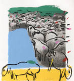 Sheep Portfolio 7 Collectable Print by Menashe Kadishman